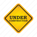construction, repair, road, sign icon