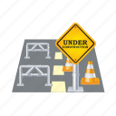 closed, closet, road, sign, street, traffic, warning icon