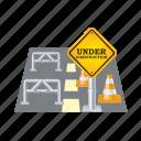 closed, road, closet, sign, street, traffic, warning