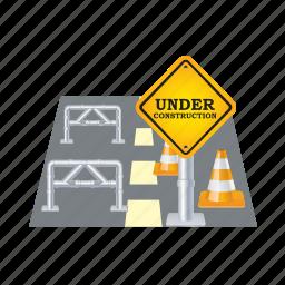 closed, closet, road, sign, street, traffic, warning icon