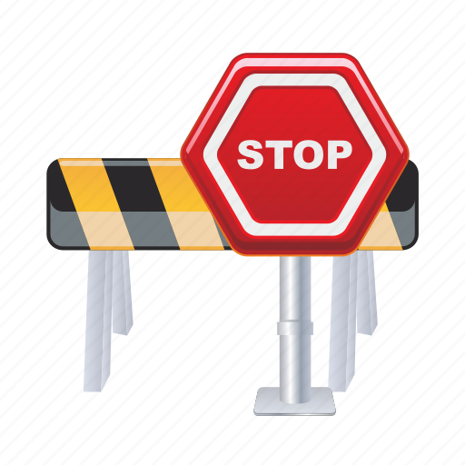 road, sign, stop, traffic, transport, transportation icon