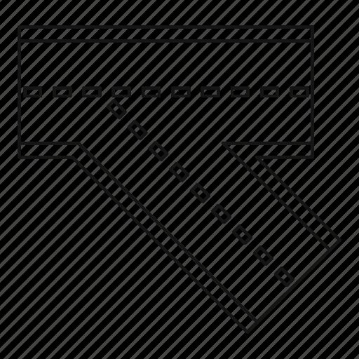asphalt, highway, line, outline, road, thin, transport icon