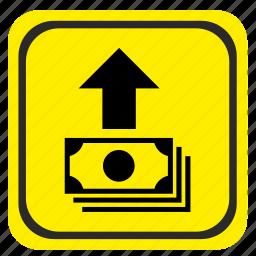 money, pay, poi, pointer, road icon
