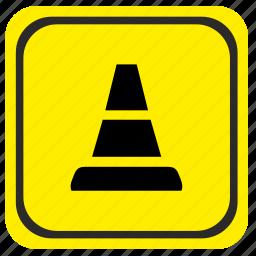 detour, obstacles, poi, pointer, road icon