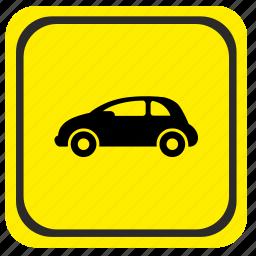 auto, car, poi, pointer, road, traffic icon