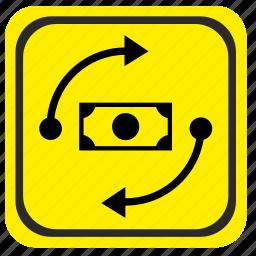 exchange, money, poi, pointer, road icon