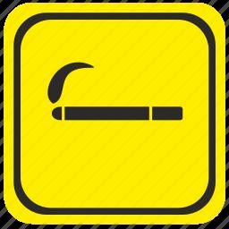 area, poi, pointer, road, smoking icon