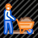 builder, cart, construction, equipment, maintenance, protect, worker