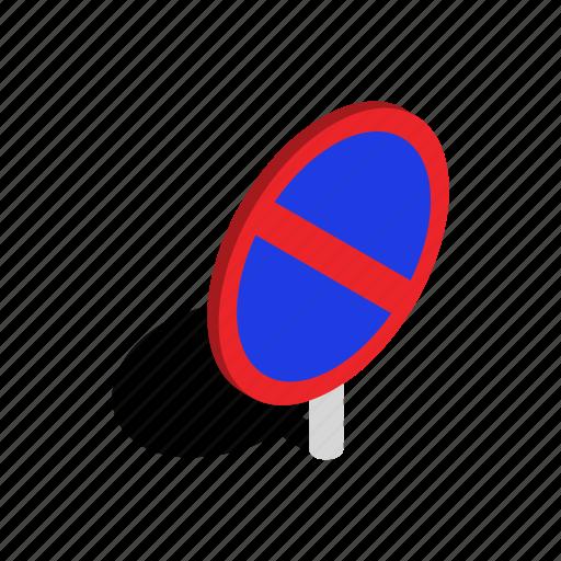 concept, isometric, no, parking, prohibited, prohibition, traffic icon