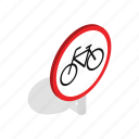 bicycle, bike, cycle, cyclist, isometric, ride, road icon