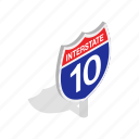 highway, interstate, isometric, traffic, transportation, travel icon