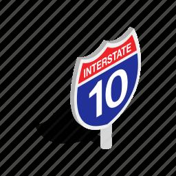 highway, interstate, isometric, traffic, transportation, travel icon