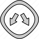 direction, navigation, pointer, way icon