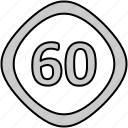 signs, limit, driveing, speed icon