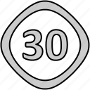 drive, limit, sign, speed