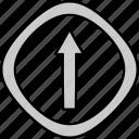 arrow, go, straight, way icon