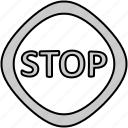 drive, sign, stop, traffic