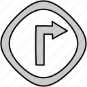 drive, route, sign, turn