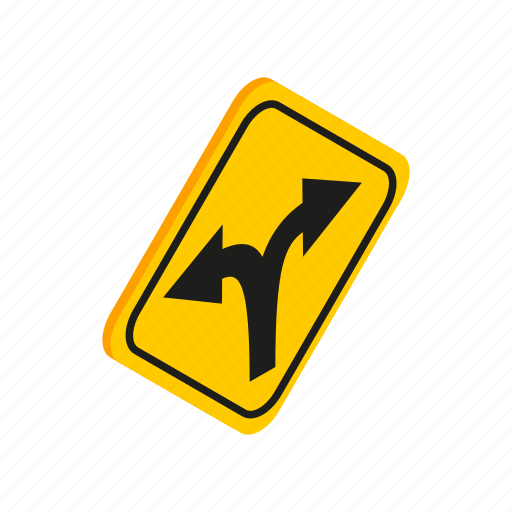 arrow, direction, isometric, road, roadsign, traffic, way icon