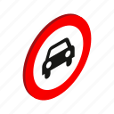 automobile, car, isometric, no, traffic, transport, vehicle icon