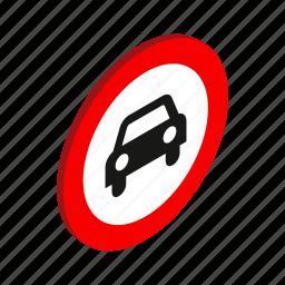 automobile, car, isometric, no, traffic, transport, vehicle icon