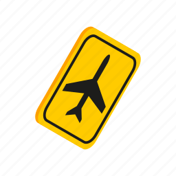 air, aircraft, airplane, isometric, jet, transportation, travel icon