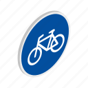 bicycle, bike, blue, isometric, ride, sport, transport icon