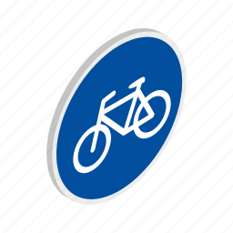 bicycle, bike, blue, isometric, ride, sport, transport icon