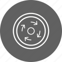 circle, compulsory, roundabout icon