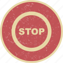 danger, sign, stop