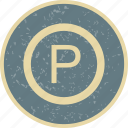 park, parking, sign, vehicle icon