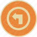 arrow, left, left turn, turn icon