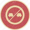 forbidden, overtaking, prohibited, warning icon