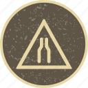 carriageway, narrow, narrow carriageway icon