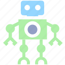 cute, friendly, robot, science, space icon