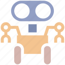 android, innovation, machine, robotics, technology icon