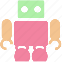 cute, friendly, robot, science, space