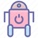 android, innovation, machine, robotics, technology icon