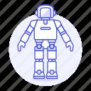 ai, asimo, modern, robot icon
