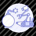 ai, bomb, disposal, modern, rescure, robot icon