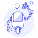 cleaner, fashioned, old, retro, robot, vintage icon