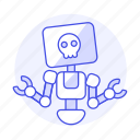 dead, repairs, ai, robot, infected, bugs, virus icon