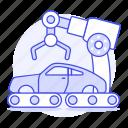 arm, assembling, builder, car, factory, robot