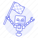ai, behavior, flag, goal, learning, machine, ml, robot icon