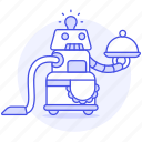 cleaner, vintage, fashioned, old, robot, maid, retro