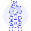 repairs, attention, ai, alert, robot, bugs, overheat, warning icon