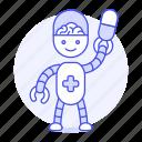 ai, cyborg, medical, phamacist, pharmacist, pill, robot