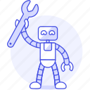 repairs, fix, wrench, ai, technician, robot, bugs icon