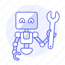 repairs, fix, wrench, ai, technician, 2, robot, bugs icon