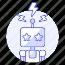 control, flash, robot, signal, star, toy